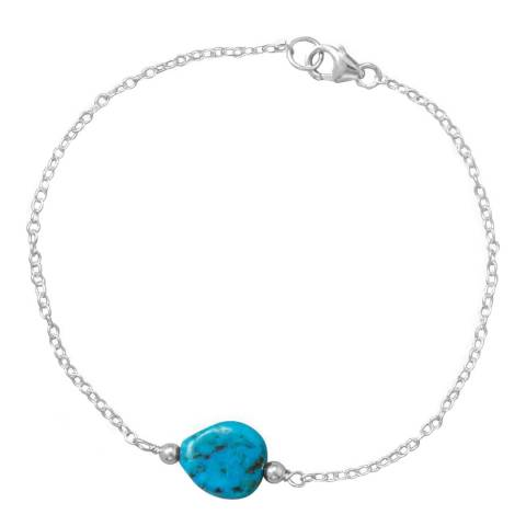 Alexa by Liv Oliver Turquoise / Silver Bracelet