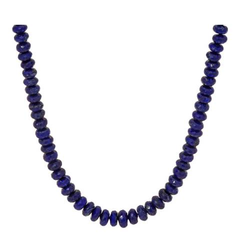 Alexa by Liv Oliver Blue Sapphire Faceted Silver Plated Necklace