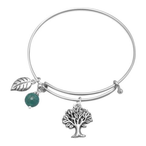 Alexa by Liv Oliver Aqua/ Silver Tree Charm Bracelet