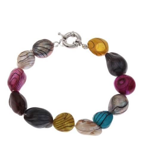 Alexa by Liv Oliver Multi Colour Baroque Freshwater Pearl Bracelet