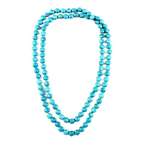 Alexa by Liv Oliver Turquoise Endless Long Necklace