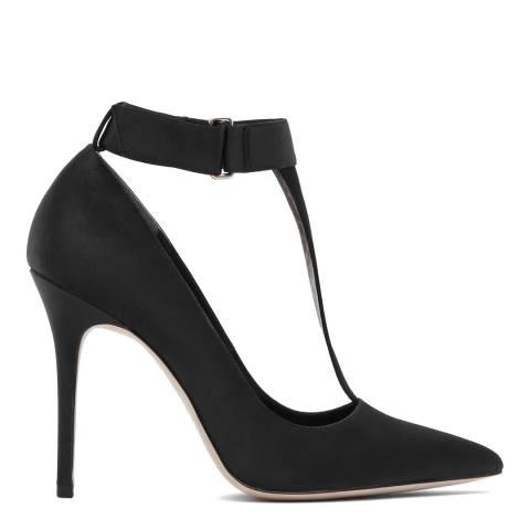 Reiss Black Poppy T-Bar Court Shoes