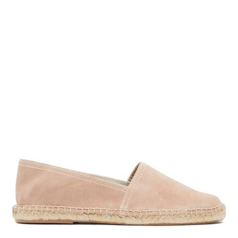 Reiss Light Blush Sydney Closed Toe Espadrilles