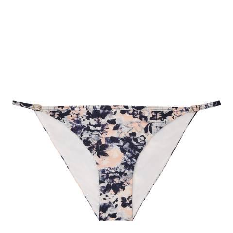 Reiss Multi Pink Omari Frill Front Bikini Bottoms