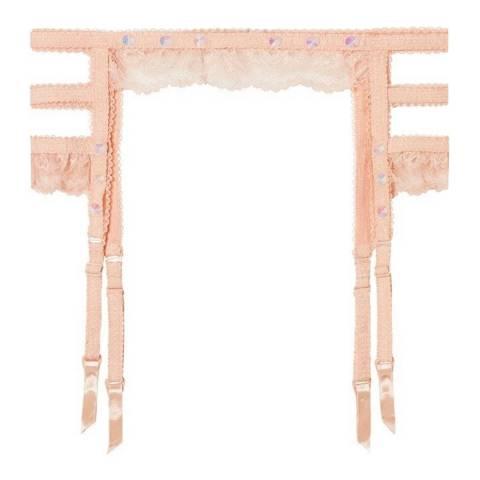 Pleasure State Couture Pink Spanish Villa Marina Monrovia Suspender Belt