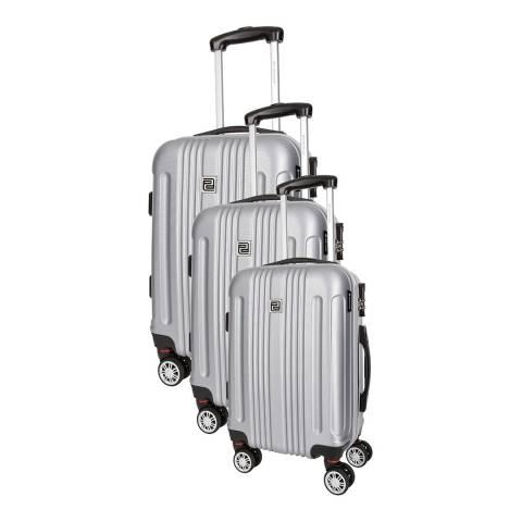 Platinium Brown Stafford Set of Three 8 Wheeled Suitcases S/M/L