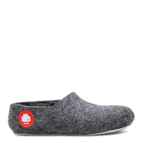BAABUK Unisex Dark Grey Wool Jeremy Slippers