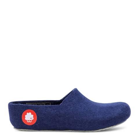 BAABUK Unisex Navy Blue Wool Jeremy Slippers