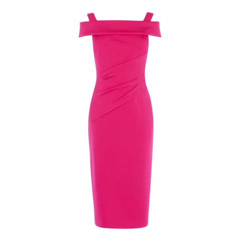 Karen Millen Fuchsia Bardot Pencil Dress