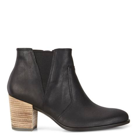 ECCO Black Leather Shape 55 Blackroad Ankle Boots