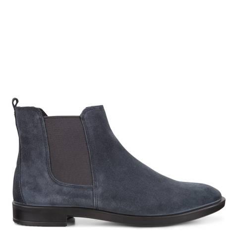 ECCO Marine Blue Leather Shape 15 Chelsea Boots