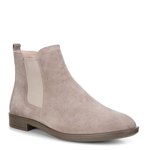 ECCO Grey Leather Shape 15 Chelsea Boots
