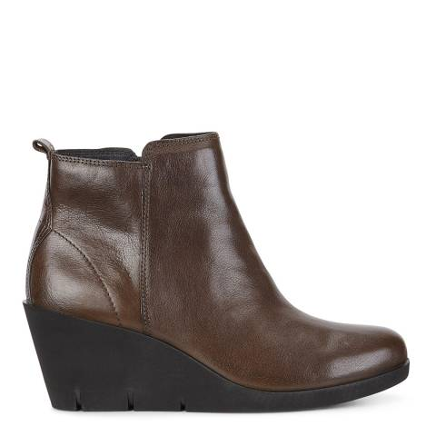 ECCO Brown Bella Wedge Boots