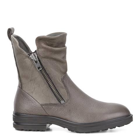 ECCO Warm Grey Leather Zoe Zip Boots