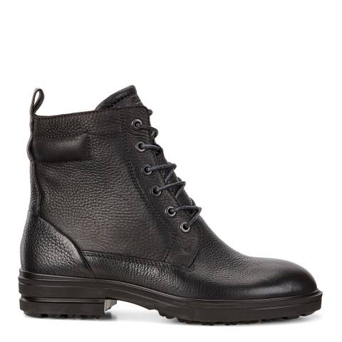 ECCO Black Leather Zoe Lace Up Ankle Boots
