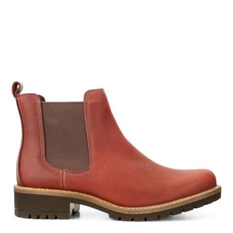 ECCO Cognac Nubuck Elaine Chelsea Boots