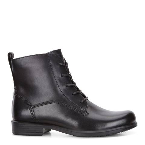 ECCO Black Leather Touch 25 Lace Up Ankle Boots