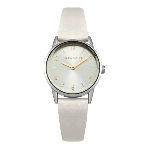Karen Millen White Analogue Round Watch