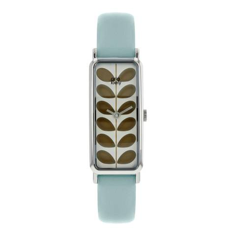 Orla Kiely Silver Stem Stainless Steel/Leather Analogue Watch