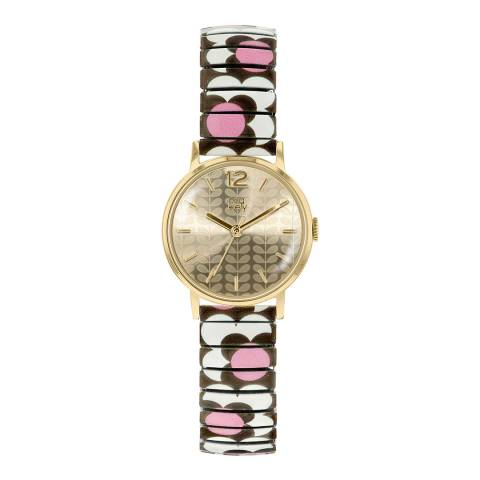 Orla Kiely Gold Flower Pop Stainless Steel Analogue Watch