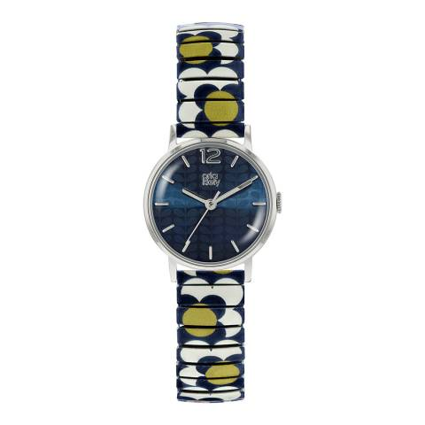 Orla Kiely Silver Flower Pop Stainless Steel Analogue Watch