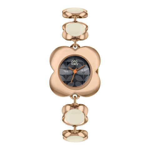 Orla Kiely Rose Gold Poppy Stainless Steel Analogue Watch