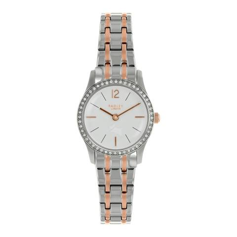 Radley Pale Silver White Satin Millbank Watch
