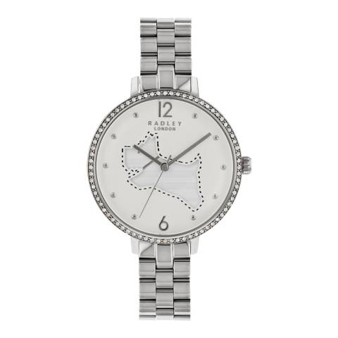 Radley Silver White Satin On The Run Watch