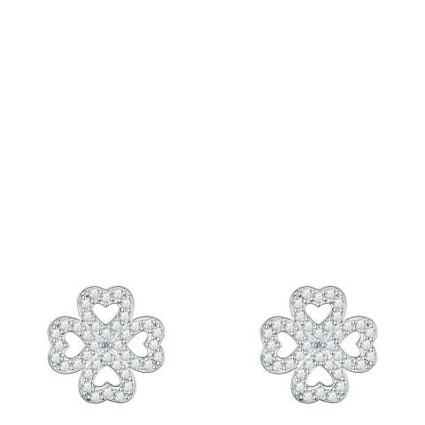 Saint Francis Crystals Sterling Silver Hearts Stud Zirconia Earrings