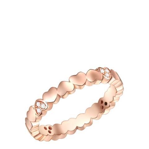 Carat 1934 Rose Gold Hearts Ring