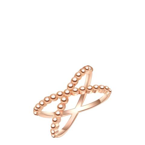 Carat 1934 Rose Gold Plated Sterling Silver Ring