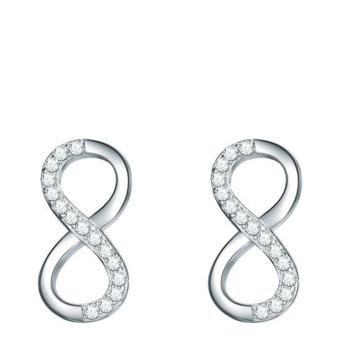 Carat 1934 Sterling Silver Infinity Stud Zirconia Earrings