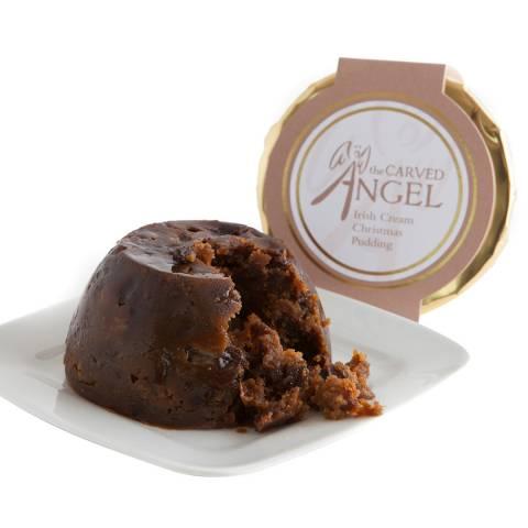 The Carved Angel Irish Cream Whisky & White Chocolate Christmas Pudding Acrylic Basin, Serves 3-4