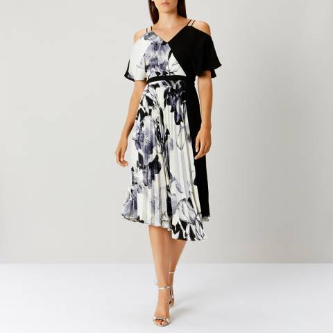 Coast DENHAM PRINT PLEATED DRESS D