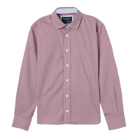 Hackett London Red/Blue Puppy Tooth Cotton Shirt