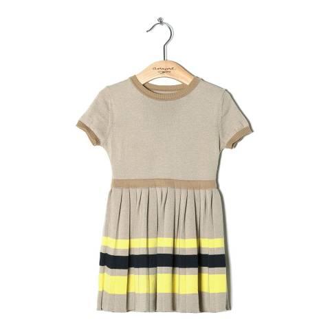 Amore Di Mamma Girls Beige Knitted Dress