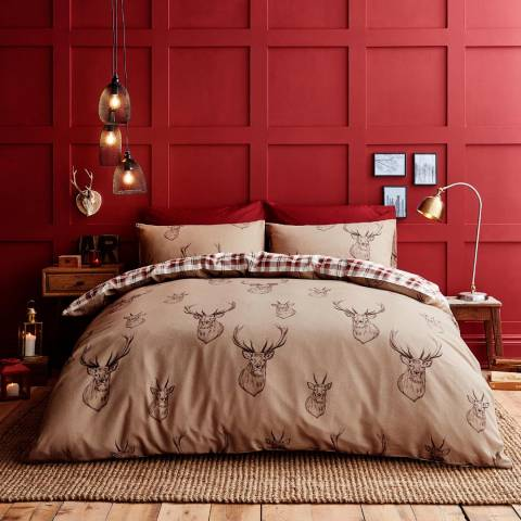 Catherine Lansfield Stag King Duvet Cover Set, Multi