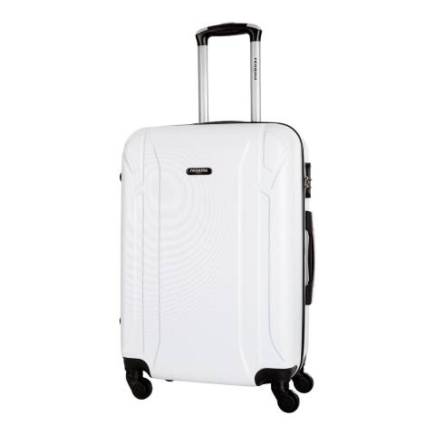 Renoma White Levy Large 4 Wheeled Suitcase