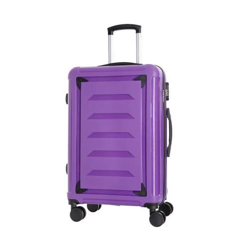 Renoma Purple Medium Goldberg 8 Wheeled Cabin Suitcase 60cm