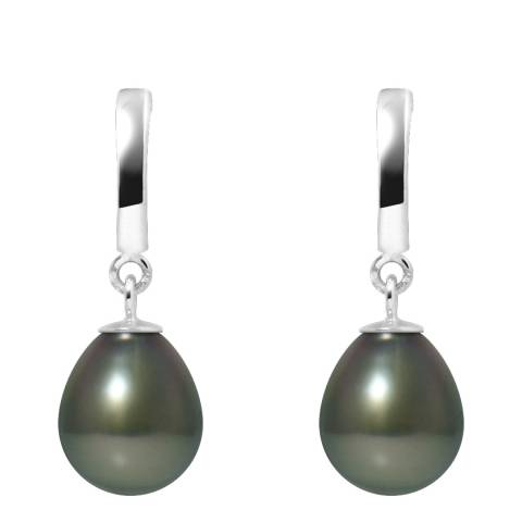 Ateliers Saint Germain White Gold Prestige Cultured Tahiti Pearl Hanging Earrings 8-9mm
