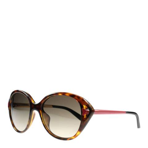 Dior Ladies Brown with Red Havana Dior Sunglasses 56mm