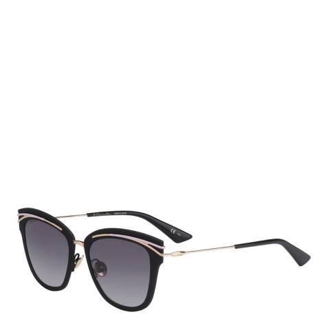 Dior Ladies Black and Gold So Dior Sunglasses 53mm