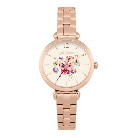 Cath Kidston Cream Mallory Bunch Rose Gold Bracelet Watch