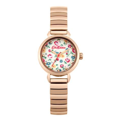 Cath Kidston Ivory Little Flower Buds Printed Expander Strap Watch