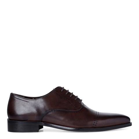 Dune Brown Leather Potter Oxford Shoes