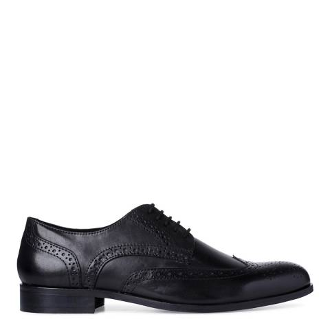 Dune Black Leather Bossi Classic Brogues