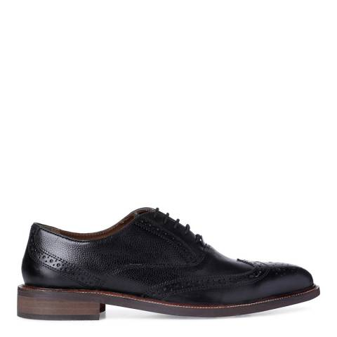 Dune Black Pebble Leather Roadie Brogue Shoes