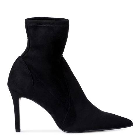Dune London Black Micro Fibre Orlland Sock Boots
