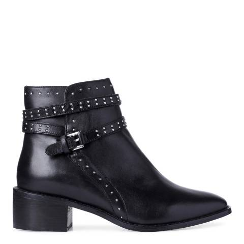 Dune Black Leather Brittany Ankle Boots