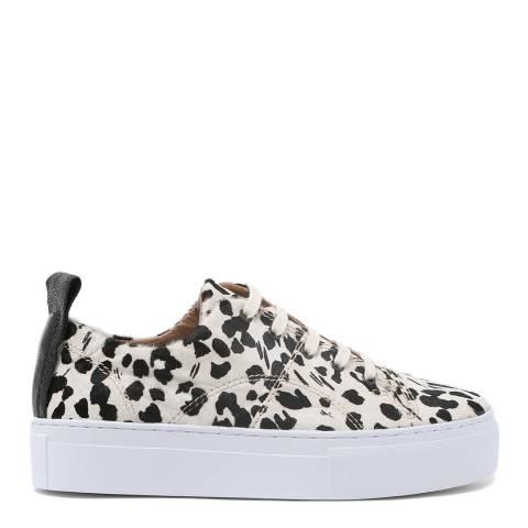 H by Hudson Leopard Mono Pony Daphne Platform Sneakers